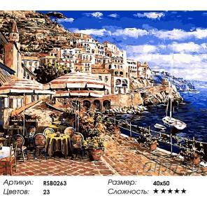 Количество цветов и сложность Полдень в Сан-Ремо Раскраска картина по номерам акриловыми красками на холсте