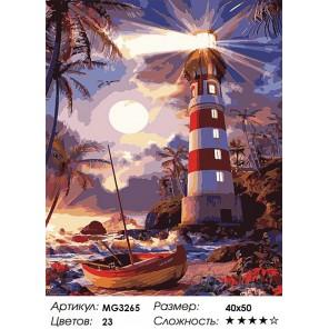 Количество цветов и сложность Светящийся маяк Раскраска картина по номерам акриловыми красками на холсте Menglei