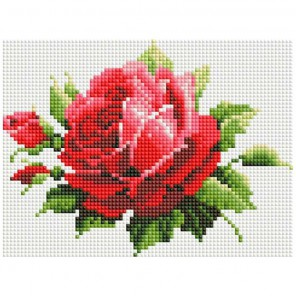 Мерцающая роза Алмазная вышивка мозаика Белоснежка