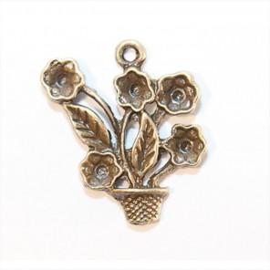 Горшочек с цветами Подвеска металлическая для скрапбукинга, кардмейкинга Scrapberry's