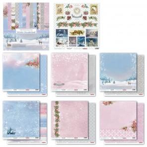 Зимняя Сказка 7 листов Набор бумаги  для скрапбукинга, кардмейкинга ScrapBerrys
