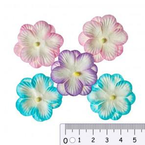 Анютины глазки пастельные Цветы бумажные для скрапбукинга, кардмейкинга Scrapberry's