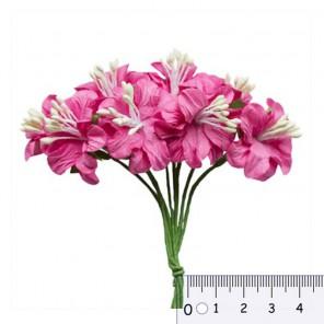 Букетик цветов гибискуса Фукчия Цветы бумажные для скрапбукинга, кардмейкинга Scrapberry's