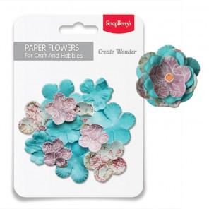 Весна Набор бумажных цветов для скрапбукинга, кардмейкинга Scrapberry's