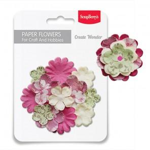 Сакура Набор бумажных цветов для скрапбукинга, кардмейкинга Scrapberry's