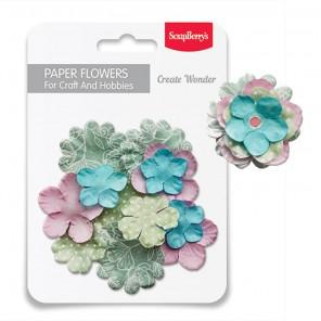 Нежность Набор бумажных цветов для скрапбукинга, кардмейкинга Scrapberry's