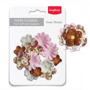 Гармония Набор бумажных цветов для скрапбукинга, кардмейкинга Scrapberry's