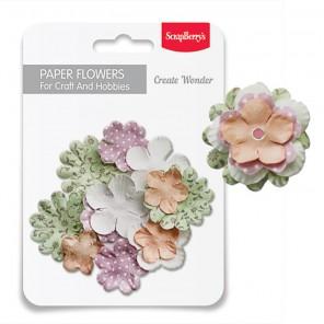 Свежесть Набор бумажных цветов для скрапбукинга, кардмейкинга Scrapberry's