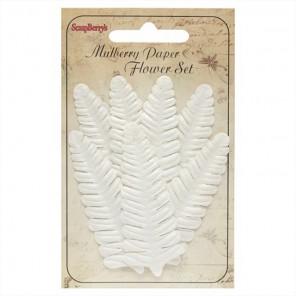 Белый папортник Набор листьев для скрапбукинга, кардмейкинга Scrapberry's
