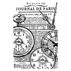 Антикварные часы Штамп на резиновой основе для скрапбукинга, кардмейкинга Stamperia
