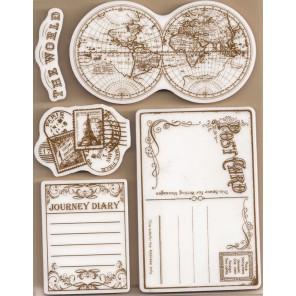 По всему миру Набор штампов на резиновой основе для скрапбукинга, кардмейкинга Stamperia
