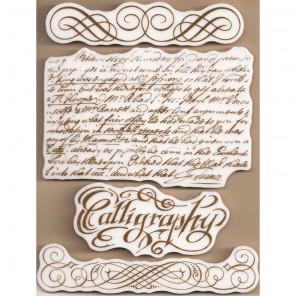 Каллиграфия Набор штампов на резиновой основе для скрапбукинга, кардмейкинга Stamperia