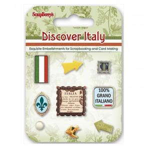 Итальянские Каникулы Набор декоративных брадсов Scrapberrys