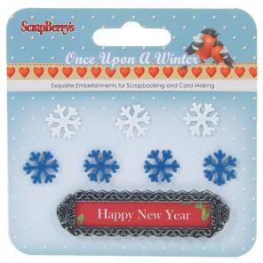 Рождество. Однажды Зимой Набор металлических украшений Scrapberrys