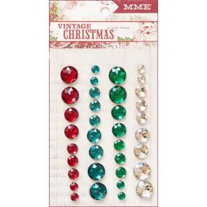 My Mind's Eye Vintage Christmas Полубусины декоративные самоклеящиеся