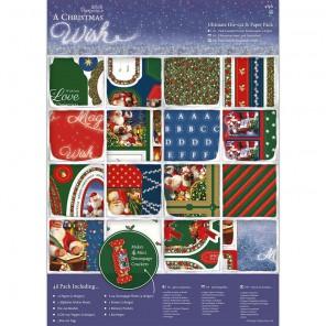 A Christmas Wish А4 Набор бумаги с вырубкой для скрапбукинга, кардмейкинга Docrafts