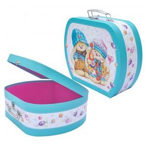 Чемоданчик ZaikaMi Коробка для упаковки подарков, хранения Hobby&You