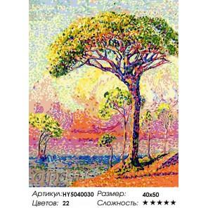 Сосна Раскраска картина по номерам акриловыми красками на холсте Hobby&You