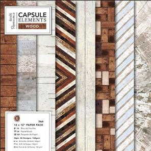 Elements Wood Набор односторонней бумаги для скрапбукинга, кардмейкинга Docrafts