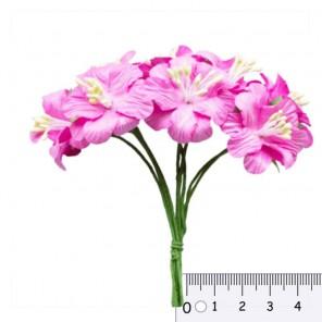Букетик цветов гибискуса Розовый Цветы бумажные для скрапбукинга, кардмейкинга Scrapberry's