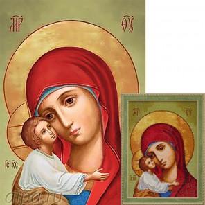 Икона Владимирская Богородица Алмазная вышивка мозаика Гранни