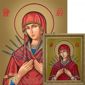 Икона Пресвятой Богородицы «Семистрельная» Алмазная вышивка мозаика Гранни
