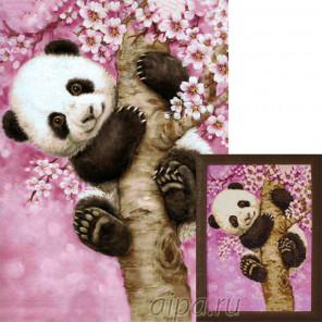 Ласковая панда Алмазная вышивка мозаика Гранни