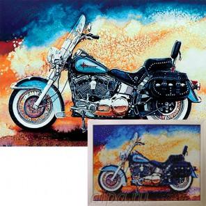 Мотоцикл Алмазная вышивка мозаика Гранни