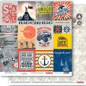 Карточки 1 Мужские Хобби Бумага двусторонняя для скрапбукинга, кардмейкинга ScrapBerrys