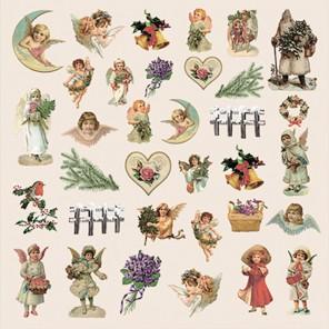 Карточки 1 Новогодний Пейзаж Бумага односторонняя для скрапбукинга, кардмейкинга ScrapBerrys