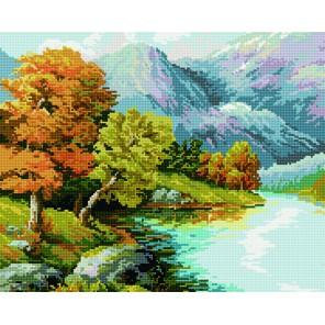 Горная река Алмазная мозаика вышивка на подрамнике Molly