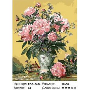 Великолепие пионов Раскраска картина по номерам акриловыми красками на холсте