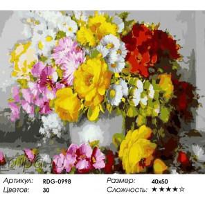 Цветочный каскад Раскраска картина по номерам акриловыми красками на холсте