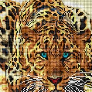 Леопард Алмазная вышивка мозаика на подрамнике Белоснежка
