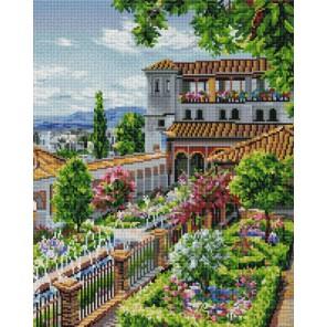 Сады Гранады Алмазная вышивка мозаика на подрамнике Белоснежка