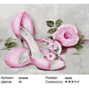 Винтажные туфельки Раскраска картина по номерам акриловыми красками на холсте
