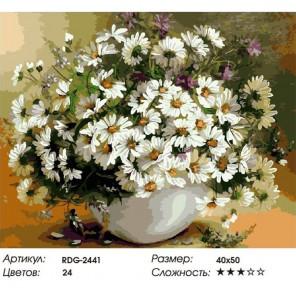 Необыкновенные ромашки Раскраска картина по номерам акриловыми красками на холсте