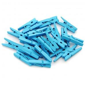 Голубые Прищепки декоративные Белоснежка