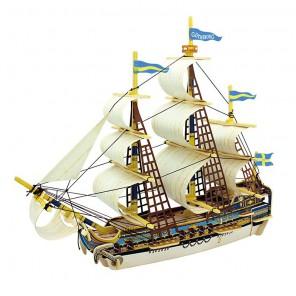 Шведский корабль 3D Пазлы Деревянные Robotime