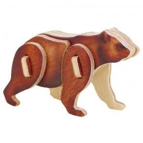Медведь 3D Пазлы Деревянные Robotime