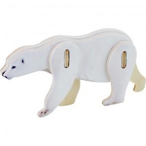 Белый медведь 3D Пазлы Деревянные Robotime