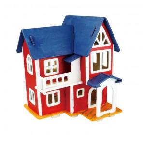 Европейский дом 3D Пазлы Деревянные Robotime