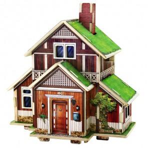Норвежский дом 3D Пазлы Деревянные Robotime