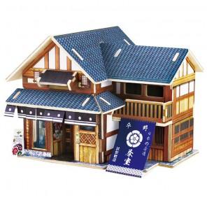 Японский чайный домик 3D Пазлы Деревянные Robotime