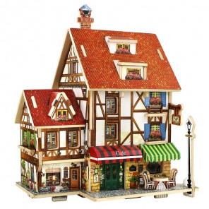 Французское кафе 3D Пазлы Деревянные Robotime