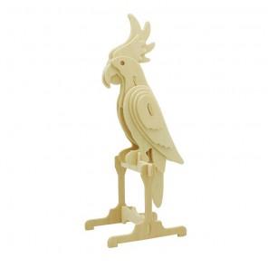 Попугай 3D Пазлы Деревянные Robotime