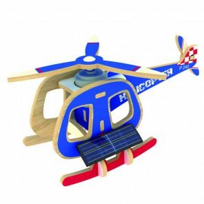 Вертолет В (на солнечной энергии) 3D Пазлы Деревянные Robotime