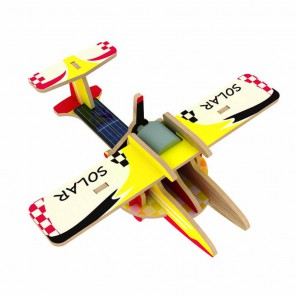 Сельскохозяйственный самолет (на солнечной энергии) 3D Пазлы Деревянные Robotime