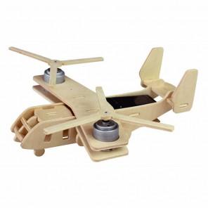 Вертолет-самолет Bell V-22 OSPREY (на солнечной энергии) 3D Пазлы Деревянные Robotime