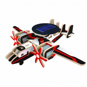 Патрульный самолет (на солнечной энергии) 3D Пазлы Деревянные Robotime